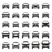 Car icons flat big set vector illustration Piirros