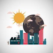 Graphic design of pollution Stock Illustration