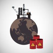 Graphic design of pollution - stock illustration