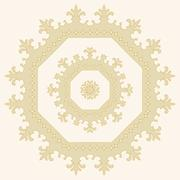 Circular ornament. Mandala Stock Illustration