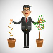 Business growth graphic design - stock illustration