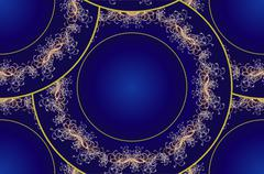 Seamless circular ornament - stock illustration