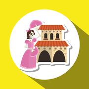 Graphic design of mexican culture Stock Illustration