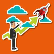 Business growth graphic design Stock Illustration