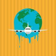 Illustration of pollution , editable vector - stock illustration