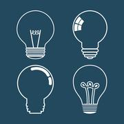 Idea design. Light bulb icon. Flat illustration , vector - stock illustration