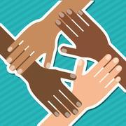 diversity  graphic design, vector illustration - stock illustration