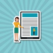 Social media graphic design, vector illustration - stock illustration