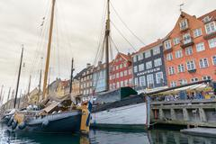 Nyhavn district in Copenhagen - stock photo