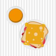 breakfast graphic design, vector illustration - stock illustration
