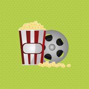 cinema graphic design, vector illustration - stock illustration