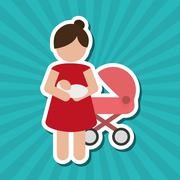 baby  graphic design, vector illustration - stock illustration