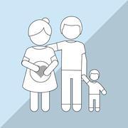 Pregnancy woman graphic design, vector illustration Stock Illustration