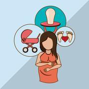Baby  graphic design, vector illustration Stock Illustration