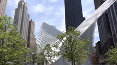 911 Memorial Plaza near New world trade center  building in New York city. - stock footage