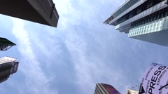 Panorama. Looking up on skyscrapers. Very smooth motion Stock Footage