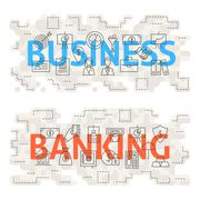 Business Banking Line Art Concept Piirros