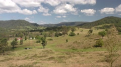 Beautiful Pastoral Rangeland Scene in Australia Blue Sky White Clouds Stock Footage