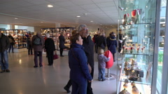 Juliana Pavilion Gift Shop, Keukenhof Gardens,  Lisse, Netherlands, 4K - stock footage