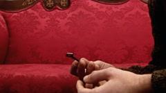 Key red sofa Stock Footage