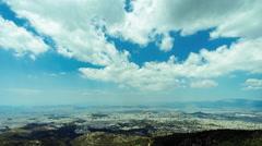 4K 25p Athens skyline panorama at summer, timelapse,establishing shot Stock Footage