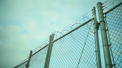 barbed wire prison fema secure - stock footage
