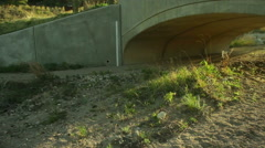 Drought dry dried up creek bed 2 Stock Footage