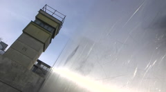 Watchtower Berlin Wall Stock Footage