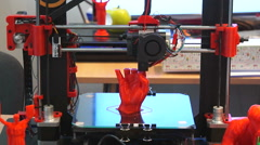 3D printer print the human hand Stock Footage