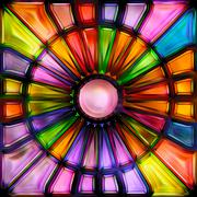 Seamless texture of abstract bright shiny colorful 3D illustration - stock illustration