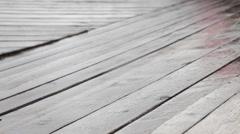 wet hardwood floors - stock footage