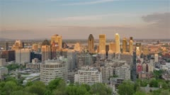 Montreal, Canada, Timelapse  - The skyline before the sunset Stock Footage