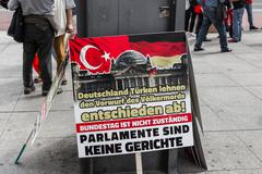 Berlin, Germany - May 28, 2016: Turkish groups protest vote on Armenian genocide - stock photo