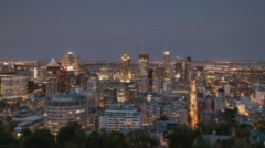 Montreal, Canada, Timelapse  - The Canadian city from Day to Night Stock Footage