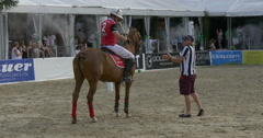 Second polo game break Stock Footage