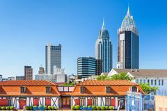 Mobile Alabama Skyline Stock Photos