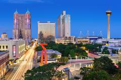 San Antonio Skyline - stock photo