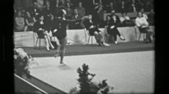 1967: Athlete #4 (part 2 of 2) jump rope competition 3rd Women's Modern Rhythmic Stock Footage