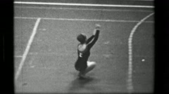 1967: Athlete #14 jump rope competition 3rd Women's Modern Rhythmic Gymnastics Stock Footage