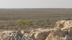 Barren Dry Desert Landscap in Australia Outback Stock Footage