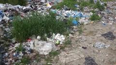 Transcarpathia, Ukraine - May 22, 2016: Garbage dump Stock Footage