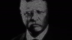 Theodore Roosevelt President American Animation Stock Footage