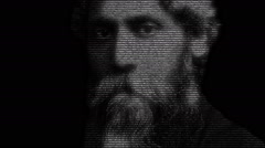 Rabindranath Tagore Face Animation Stock Footage