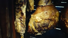 Leg of pork (jamon) Stock Footage