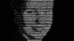 Eva Peron Portrait Animation Stock Footage