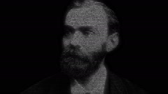 Alfred Nobel Face Animation Stock Footage