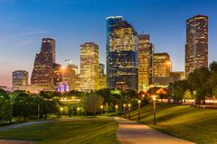 Houston Texas Skyline and Park Kuvituskuvat