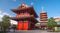 Sensoji Temple in the Asakusa District of Tokyo Stock Footage