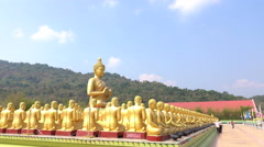 Golden Buddha, with the faith of the people. Stock Footage
