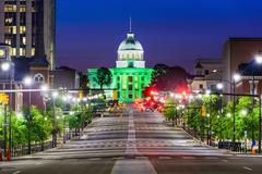 Montgomery Alabama Downtown Stock Photos